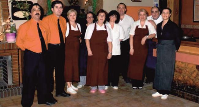 Primer equipo de la Marisquería Virgen de las Viñas